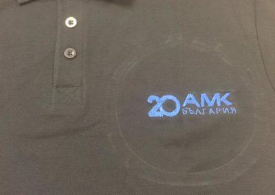 Бродерия на тениска АМК