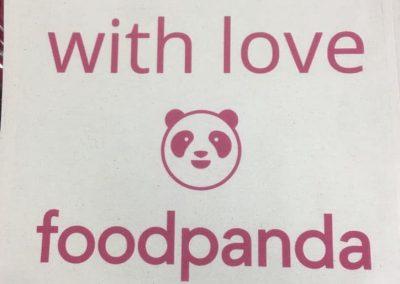 Директен печат торбички foodpanda