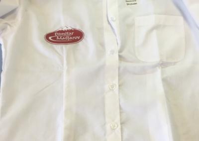 Бродерия на риза Димитър Маджаров