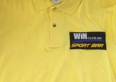 Бродерия t shirt WIN club.bg yellow