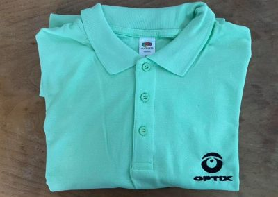 Работна тениска с яка бродерия OPTIX